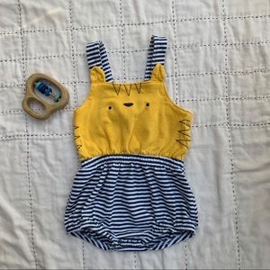 Cute little romper with animal face